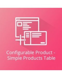 Simple Products Table